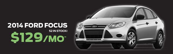 2014 Ford Focus $129/mo